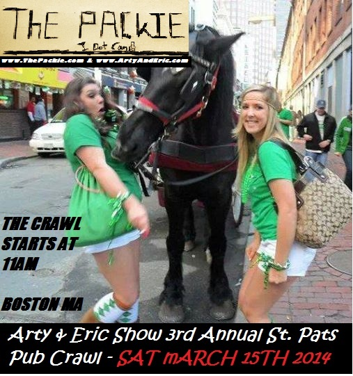 Free Comic Book Day Boston: Arty & Eric Show 3rd Annual St. Pats Pub Crawl