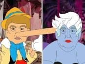 Donald Trump reimagined as Disney Characters