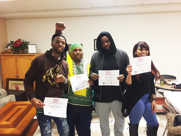 Wolfpack-Gunshot-Response-Team-led-by-Suncere-Ali-Shakur-2nd-from-left-w-Stop-the-Bleeding-course-certificates-0418-web